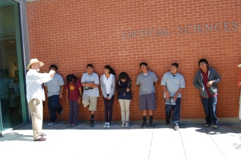 Students learn about the Sun (while taking comfort in the shade)