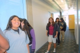 Students tour the optical sciences building