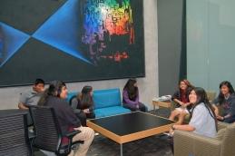 Students tour the optical sciences building