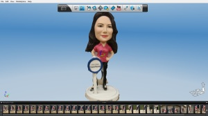 The 123D Catch model for Zaya, the female host