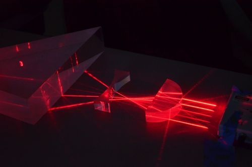 One of the many laser demos at Laser Fun Day