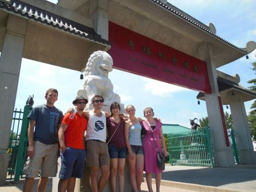 My friends and me at a Buddhist temple in Canada