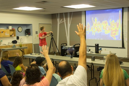 Everyone waves at themselves in the infrared
