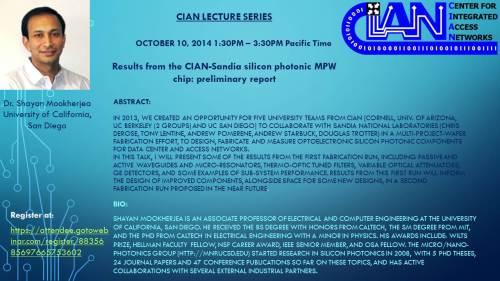 2014 10-10 Shayan Mookherjea UCSD