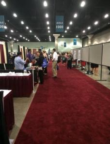View of some of the booths