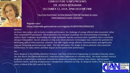 2014 12-12 Keren Bergman Flyer