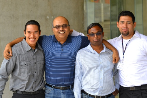 At the end of Summer 2014 with Dr. Gangopadhyay, Dr. Balakrishnan, and Alex Alvara (another IOU-NA participant)